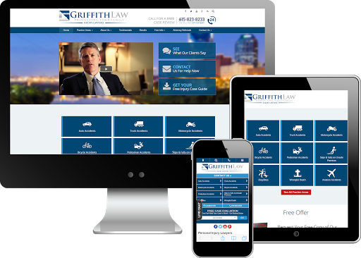 Multi-device view ofGriffith Law's website