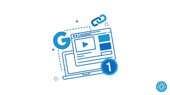 graphic of website content and google logo