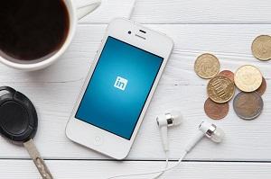 LinkedIn on Lawyer's Phone