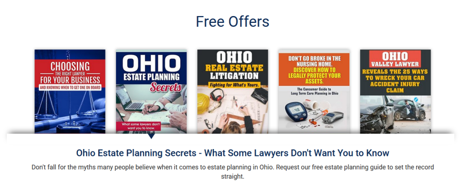 Free Offers on Littlejohn Law's Site