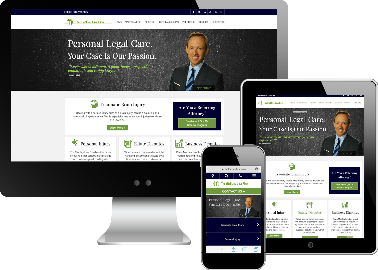 Attorney Kevin Mottley's Rebranded Home Page