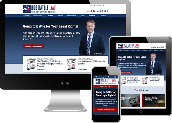 Bob Battle Law website on all devices