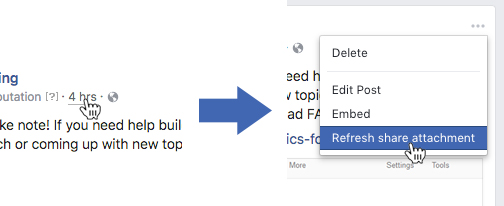 Refresh share attachment function screenshot