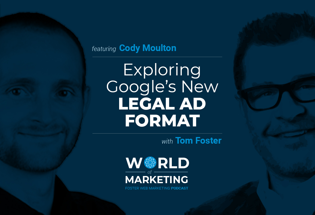 Podcast title card with Cody Moulton on the left and Tom Foster on the right