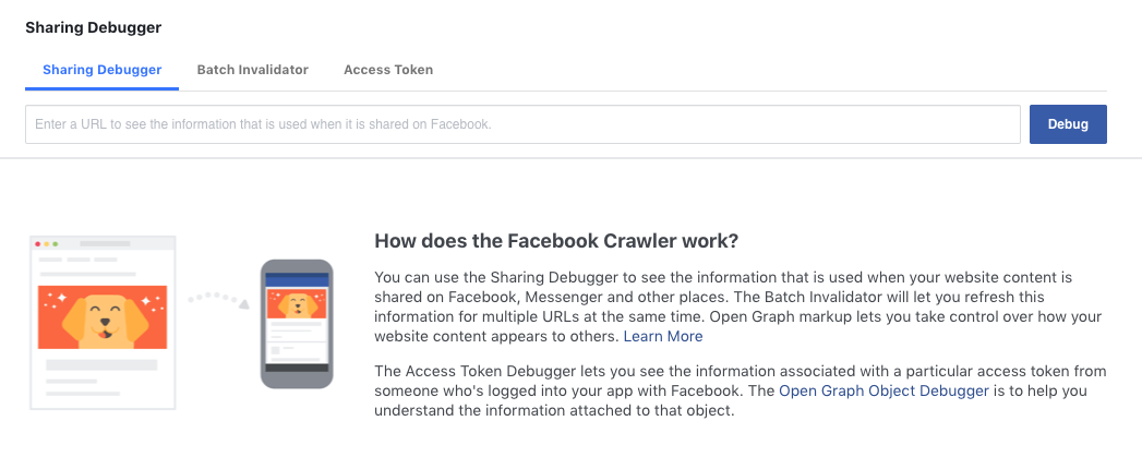 Facebook debugger screenshot