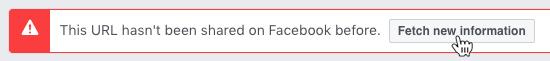 Facebook fetch new information