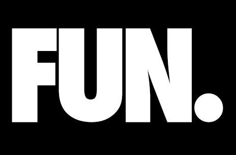 """Black square with the word """"Fun."""" inside."""