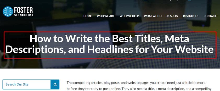 Website Headline