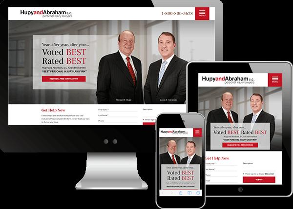 Hupy and Abraham Website Design