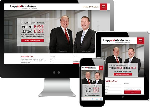 Hupy and Abraham Website Design