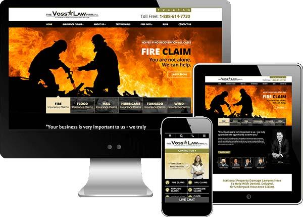 Voss Law Firm Website