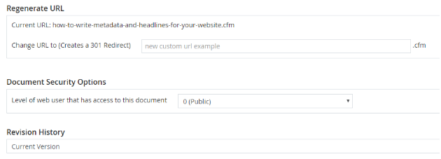 The regenerate URL field in DSS