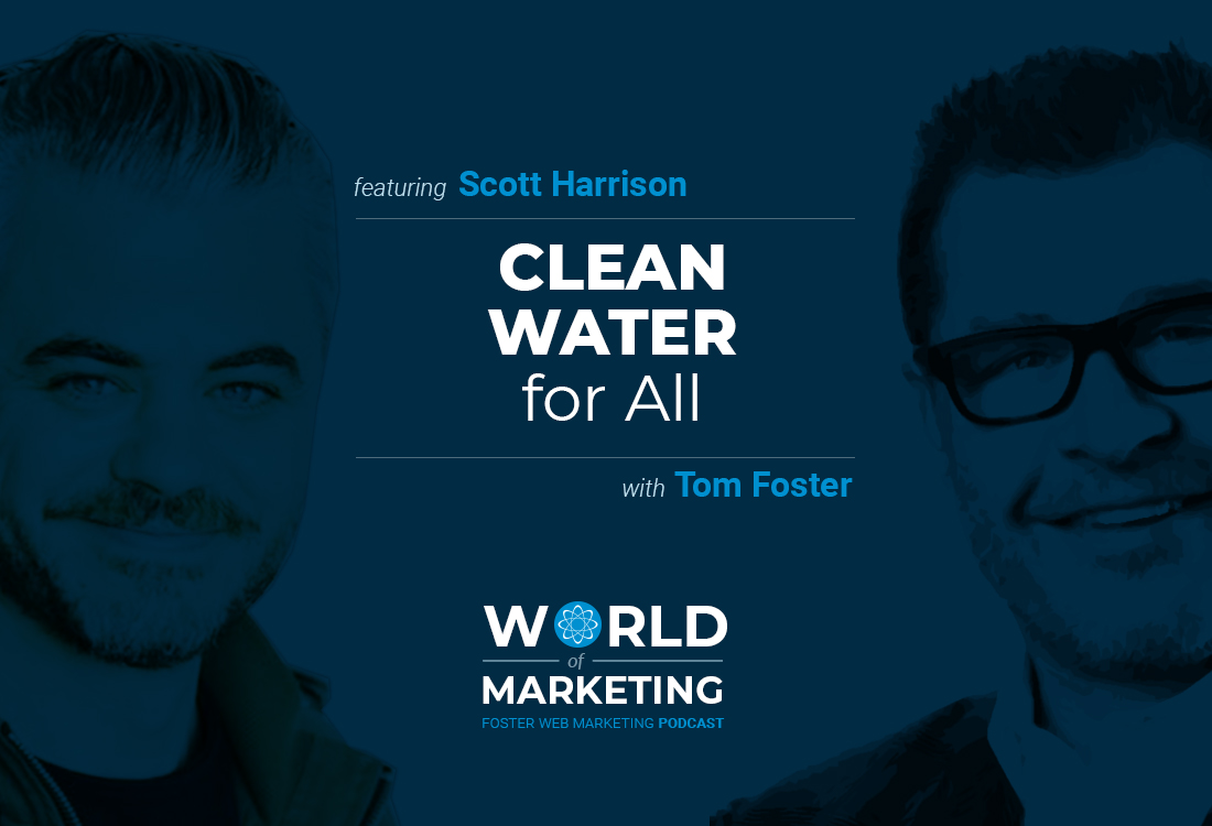 Podcast title card with Scott Harrison on the left and Tom Foster on the right