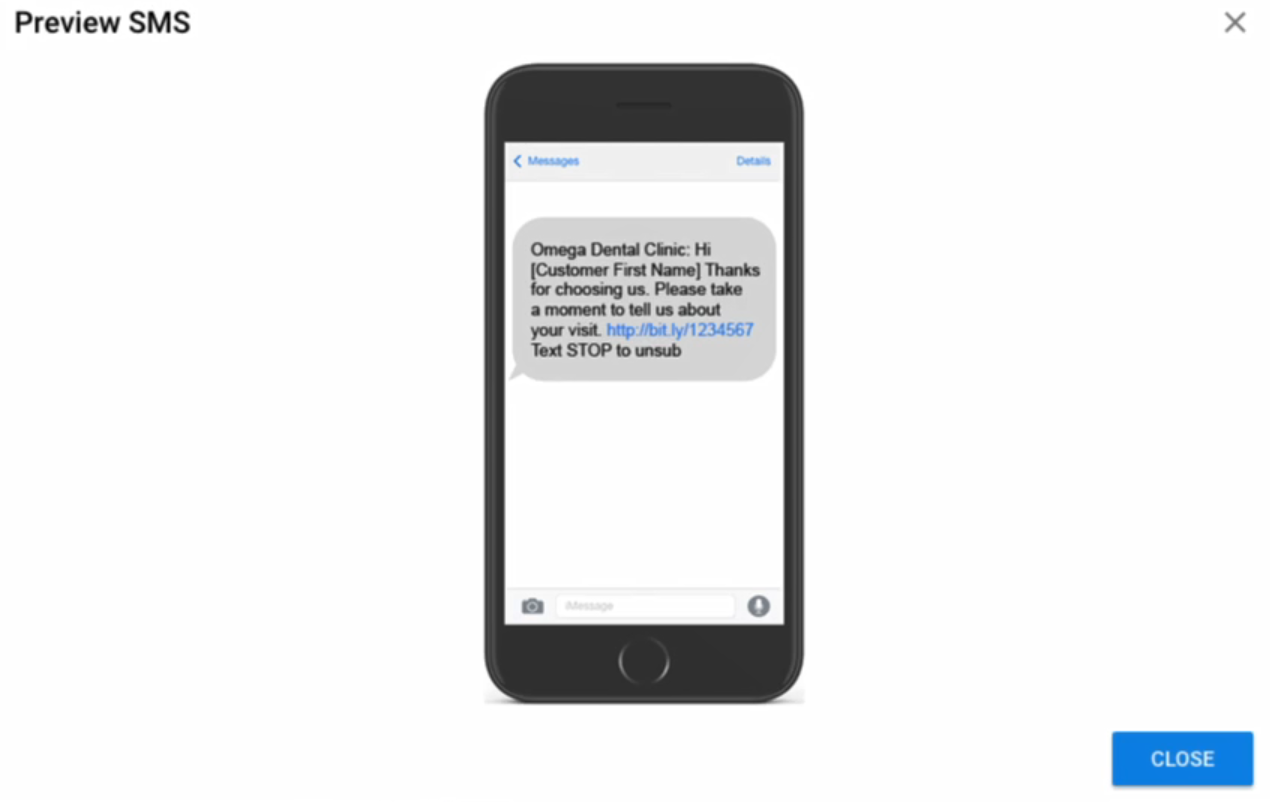 SMS Preview in DSS