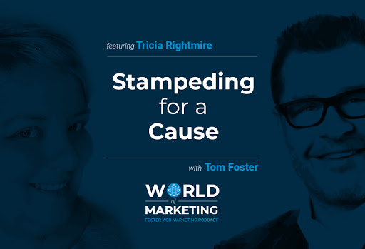 Podcast title card with Tricia Rightmire on the left and Tom Foster on the right.