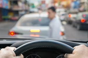 driver's view of pedestrian in front of car Jones Wilson Law