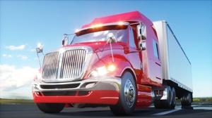 large imposing semi-truck on highway