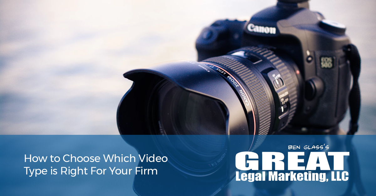What kind of videos should you be using to market your law firm?