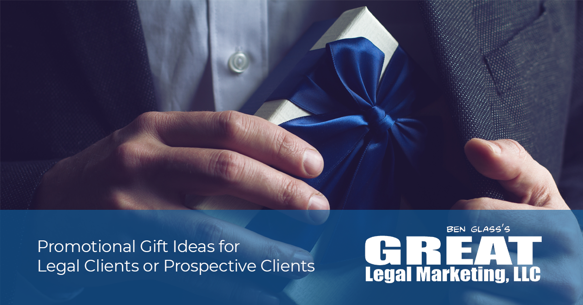 Gift or promo item ideas for lawyers and law firms.
