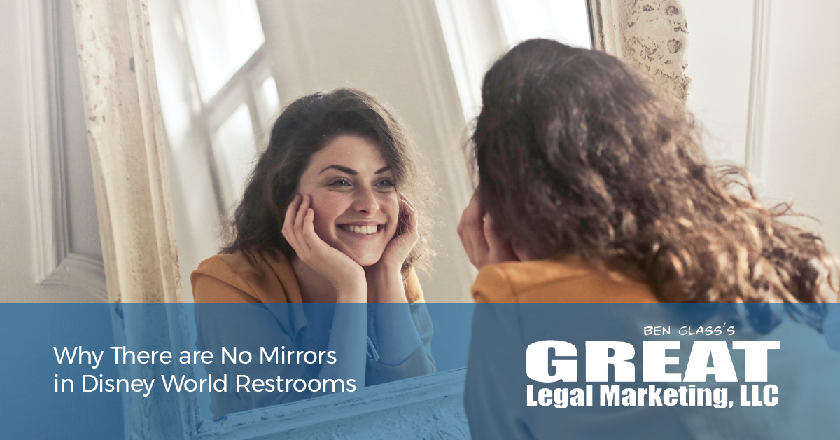 What lawyers can learn from the restrooms in disney world.