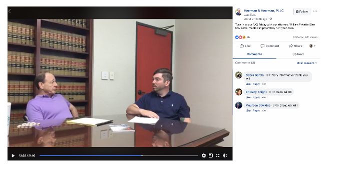 How lawyers can use Facebook Live to appeal to clients.