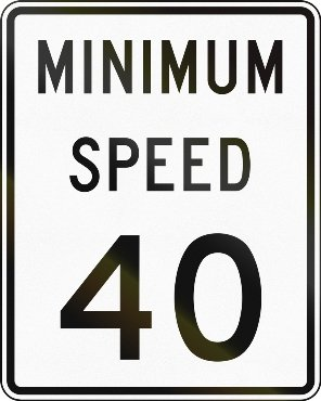 Tickets for driving under the speed limit