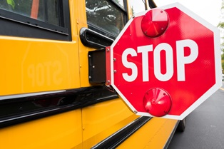Passing a stopped school bus