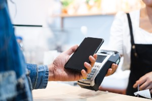 Man Paying with his phone