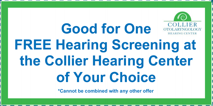 Free hearing screening offer coupon