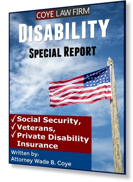 Social security disability attorney lawyer coye law firm Orlando veterans disability private disability insurance