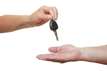 Handing Car Keys to an Open Hand