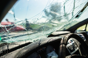 Smashed Car Windshield After a Wreck