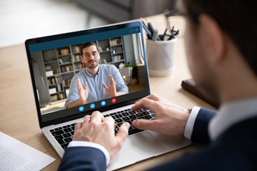 Attorney Joining a Workers' Compensation Virtual Hearing