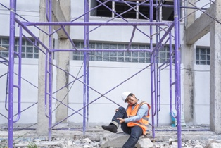 Injured Contractor on an Construction Site