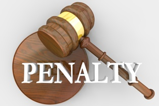 Penalty Wording With a Wooden Gavel