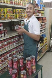 Teenager Grocery Store Employee