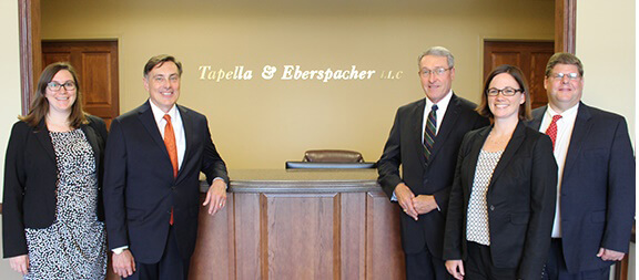 The personal injury attorneys of The Tapella & Eberspacher Law Firm.