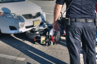 Motorcycle Wreck With an Automobile That Caused Disfigurement