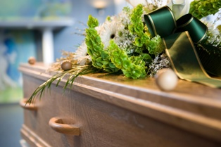Casket at a Funeral After a Wrongful Death in Delaware