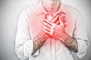Man Suffering From Chest Pain After a Car Accident