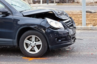 Front-End Damage From a Truck Wreck That Caused Injuries