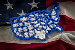 Opioids on an American Flag