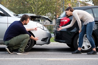 Injuries in rear-end collisions