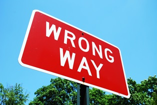Wrong-way vehicle accidents