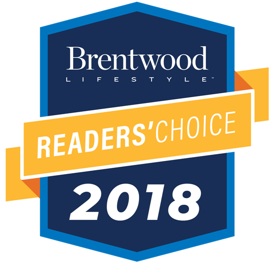 Best law firm Readers Choice award by Brentwood Lifestyle Magazine