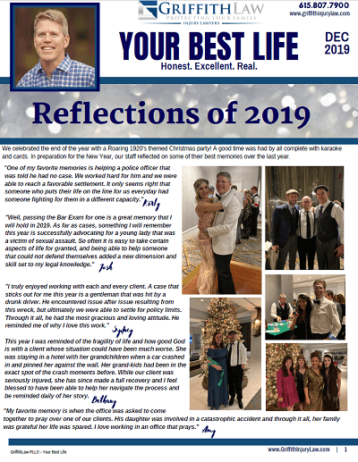 December 2019 Newsletter Cover - Your Best Life