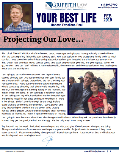 February 2019 Newsletter Cover - Your Best Life