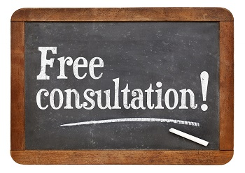 Free consultation chalkboard sign