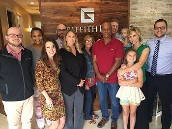 The GriffithLaw team and a special client Artis