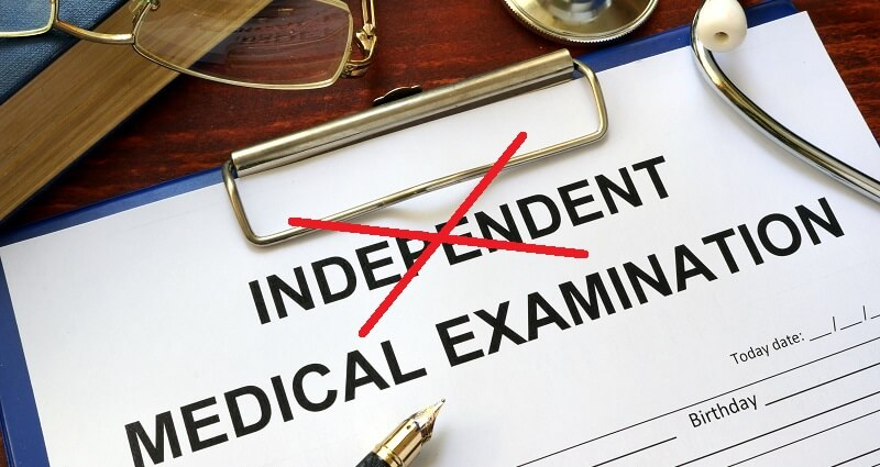 Doctors Independent Medical Exam form
